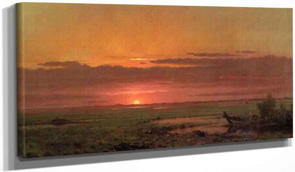 Sunset Marshland, New Jersey By Martin Johnson Heade