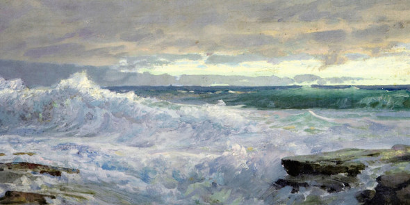 Surf And Sky By William Trost Richards By William Trost Richards