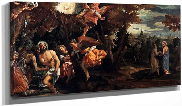 The Baptism And Temptation Of Christ By Paolo Veronese