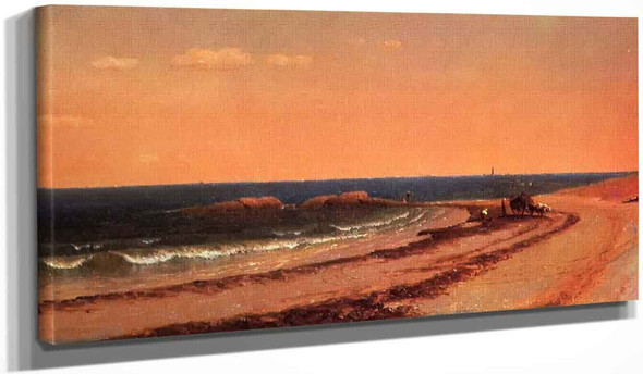 The Beach At Cohasset By Sanford Robinson Gifford