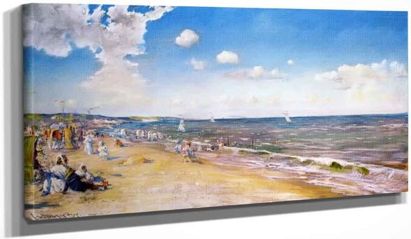 The Beach At Zandvoort By William Merritt Chase
