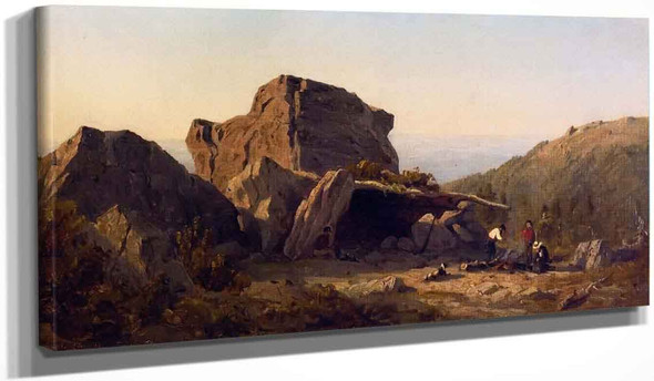 The Camp On Mansfield Mountain, Vermont By Sanford Robinson Gifford