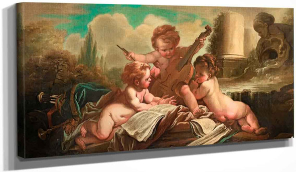 The Child Musicians By Francois Boucher