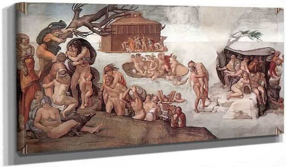 The Deluge By Michelangelo Buonarroti By Michelangelo Buonarroti