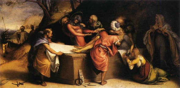 The Deposition By Lorenzo Lotto