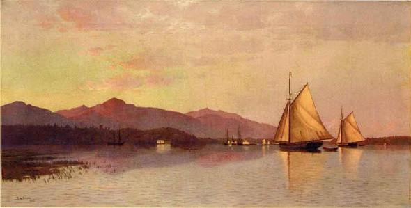 The Hudson River Looking Toward The Catskills By Francis A. Silva