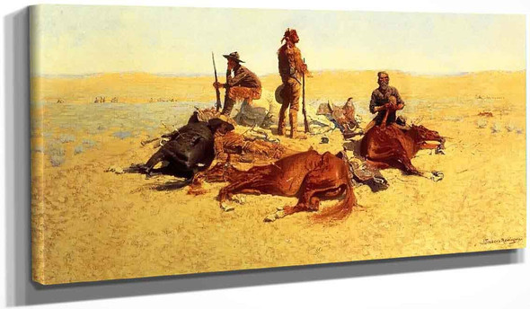 The Last Lull In The Fight By Frederic Remington