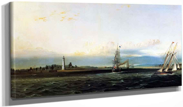 The Mouth Of The Savannah River At Cockspur Island By James E. Buttersworth
