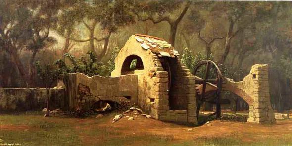 The Old Well, Bordighera By Elihu Vedder