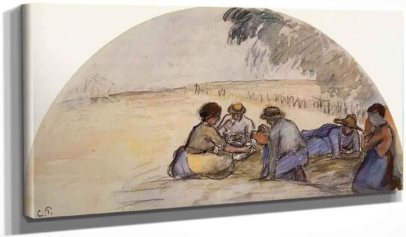 The Picnic By Camille Pissarro