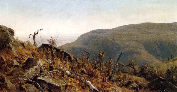 The View From South Mountain In The Catskills, A Sketch By Sanford Robinson Gifford