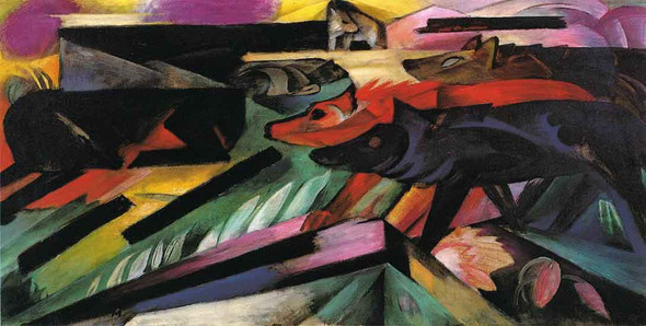 The Wolves By Franz Marc By Franz Marc