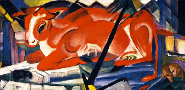 The World Cow By Franz Marc By Franz Marc