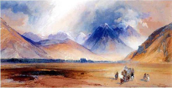 The Yellowstone Range, Near The Crow Mission By Thomas Moran