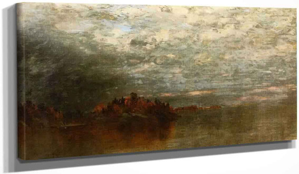 Twilight After A Storm By John Frederick Kensett By John Frederick Kensett