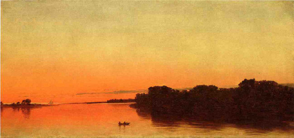 Twilight On The Sound, Darien, Connecticut By John Frederick Kensett By John Frederick Kensett