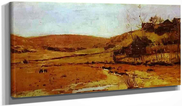 Valley Of A River. Study By Isaac Levitan
