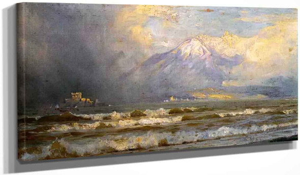 Vesuvius In Winter By William Trost Richards