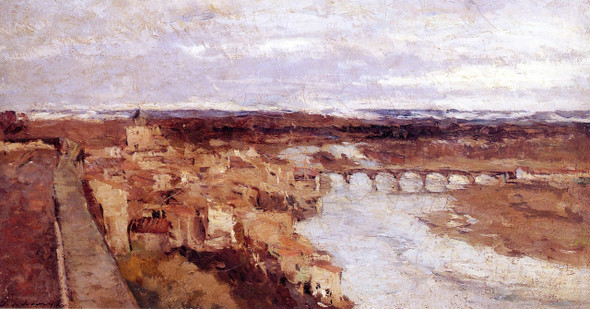 View Of The Town Of Pont Du Château By Albert Lebourg(French, 1849 1928) By Albert Lebourg(French, 1849 1928)