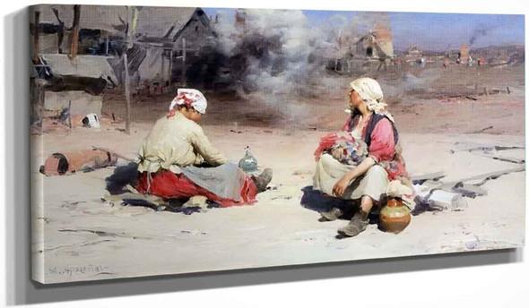 Women At The Ironworks By Abram Efimovich Arkhipov