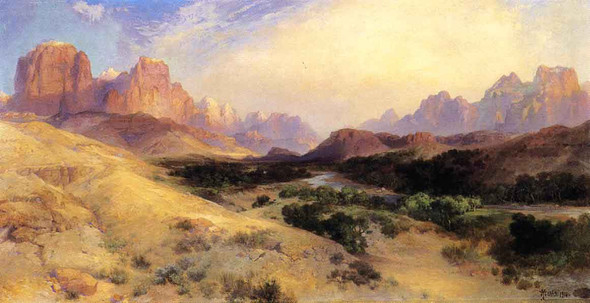 Zion Valley, South Utah By Thomas Moran