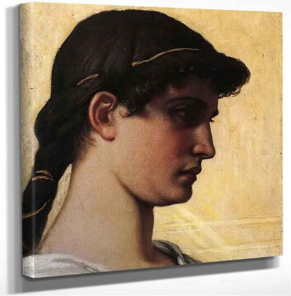 Head Of A Roman Maiden Elihu Vedder