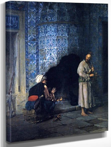 Conversation By The Fire By Jean Leon Gerome