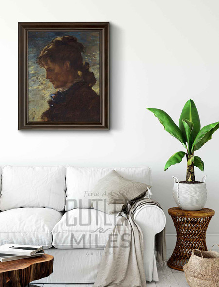 Coolidge Girl By William Morris Hunt