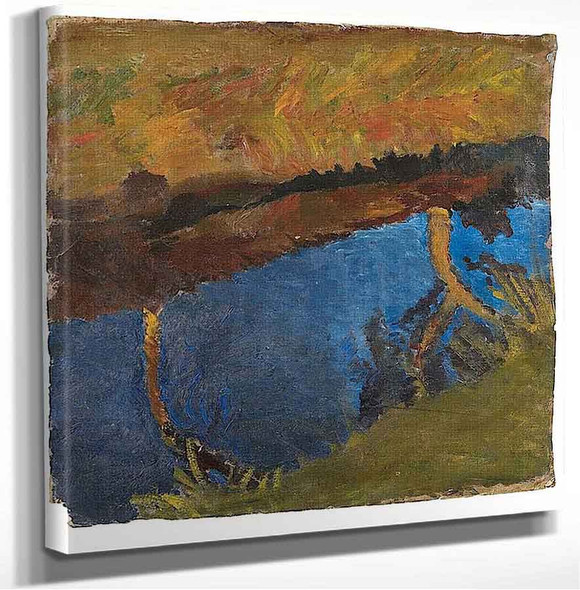 Marsh Landscape With Reflected Trees Paula Modersohn Becker
