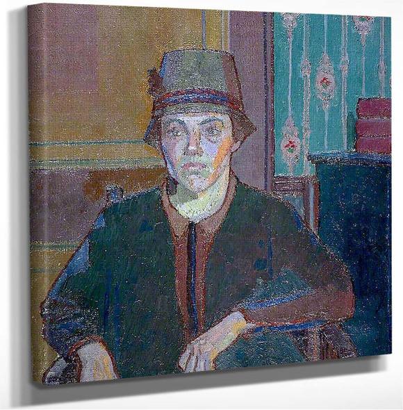 Portrait Of A Lady (Miss Fletcher) Harold Gilman