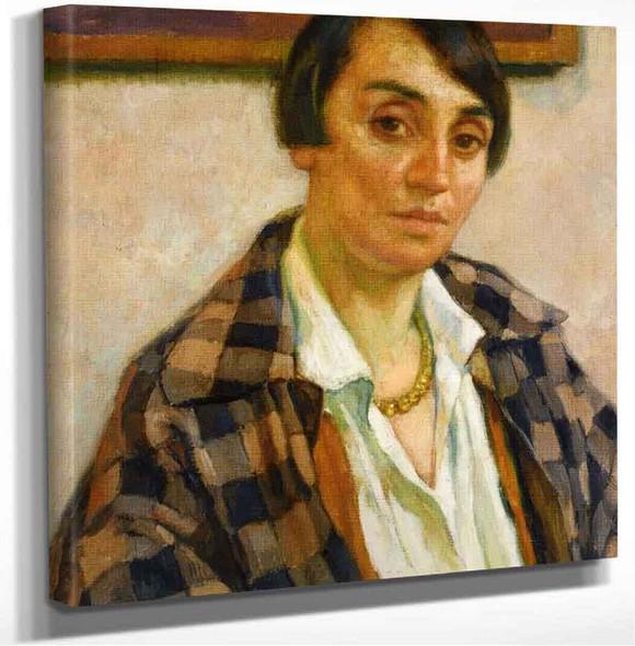 Portrait Of Elizabeth Van Rysselberghe. Theo Van Rysselberghe