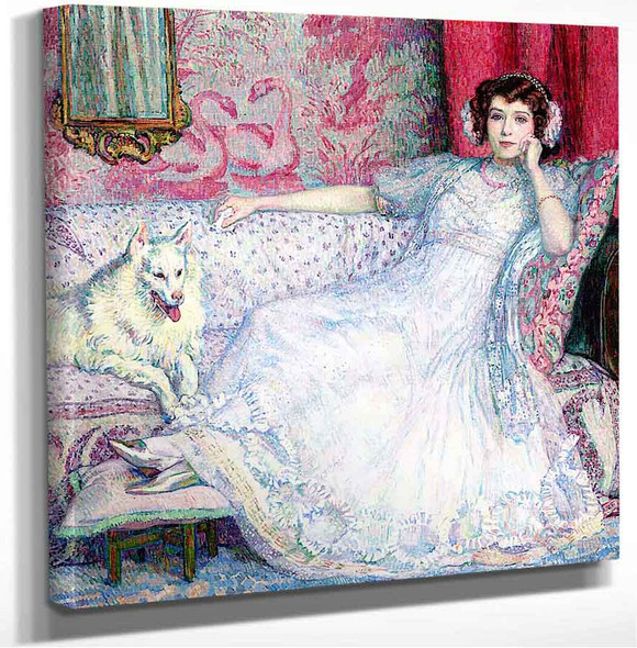 Portrait Of Helene Keller (Also Known As Woman In White) Theo Van Rysselberghe