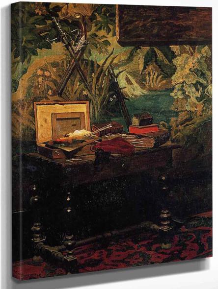 Corner Of The Studio By Claude Oscar Monet