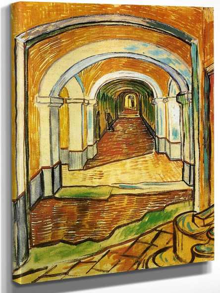 Corridor In Saint Paul Hospital By Vincent Van Gogh