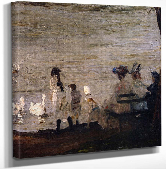 Swans In Central Park George Wesley Bellows