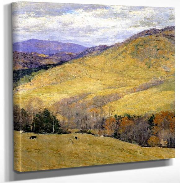 Vermont Hills November Willard Leroy Metcalf