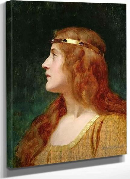 A Medieval Beauty By Edmund Blair Leighton