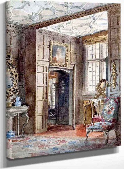 A Panelled Hall By Sir Edward John Poynter