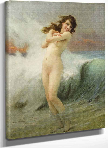 A Water Nymph (Also Known As The Wave) By Guillaume Seignac