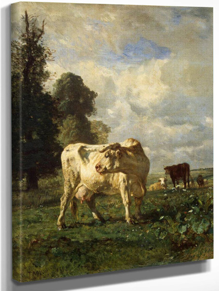 Cows In The Field By Constant Troyon