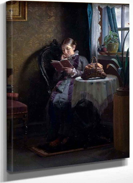 Anna Ancher Reading By Michael Peter Ancher