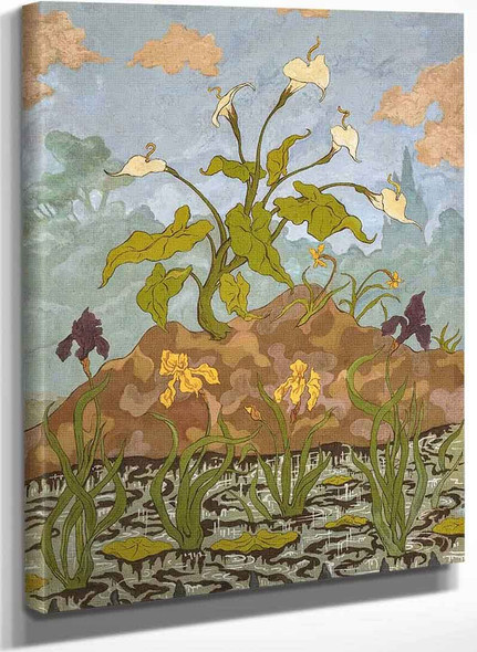 Arums And Irises By Paul Ranson