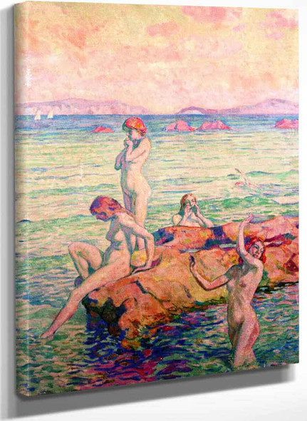 Bathers (Also Known As Bathing Women) By Theo Van Rysselberghe