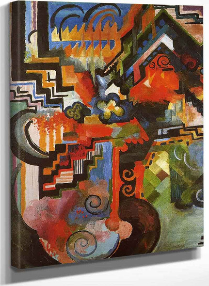 Colored Composition (Also Known As Homage To Johann Sebastian Bach) By August Macke