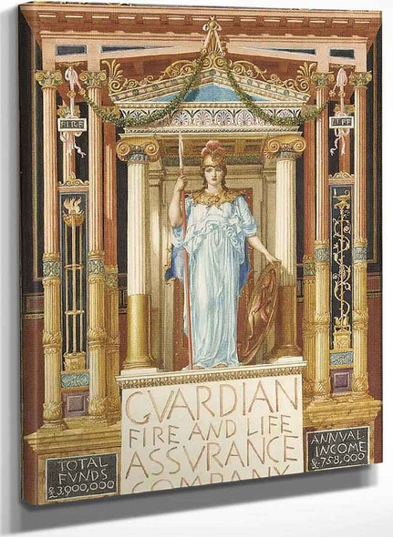 Design For The Guardian Fire And Life Assurance Company By Sir Edward John Poynter