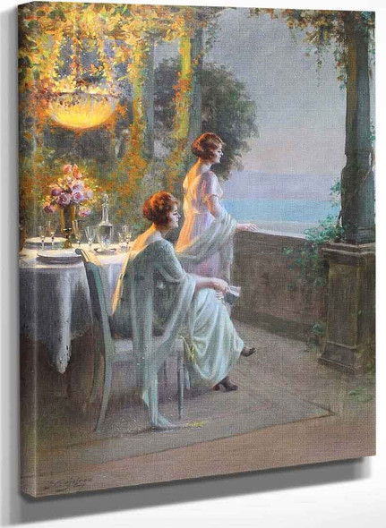 Evening On The Terrace I By Delphin Enjolras