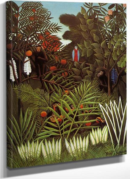 Exotic Landscape 1 By Henri Rousseau