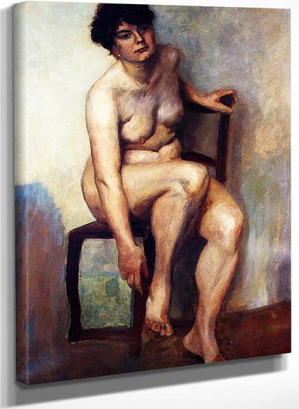 Female Nude By Lovis Corinth