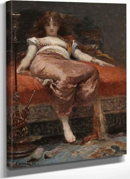 Femme Au Narguile By Fernand Cormon