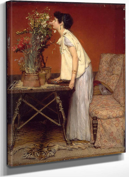 Flowers (Also Known As Woman And Flowers The Flower Girl) By Sir Lawrence Alma Tadema